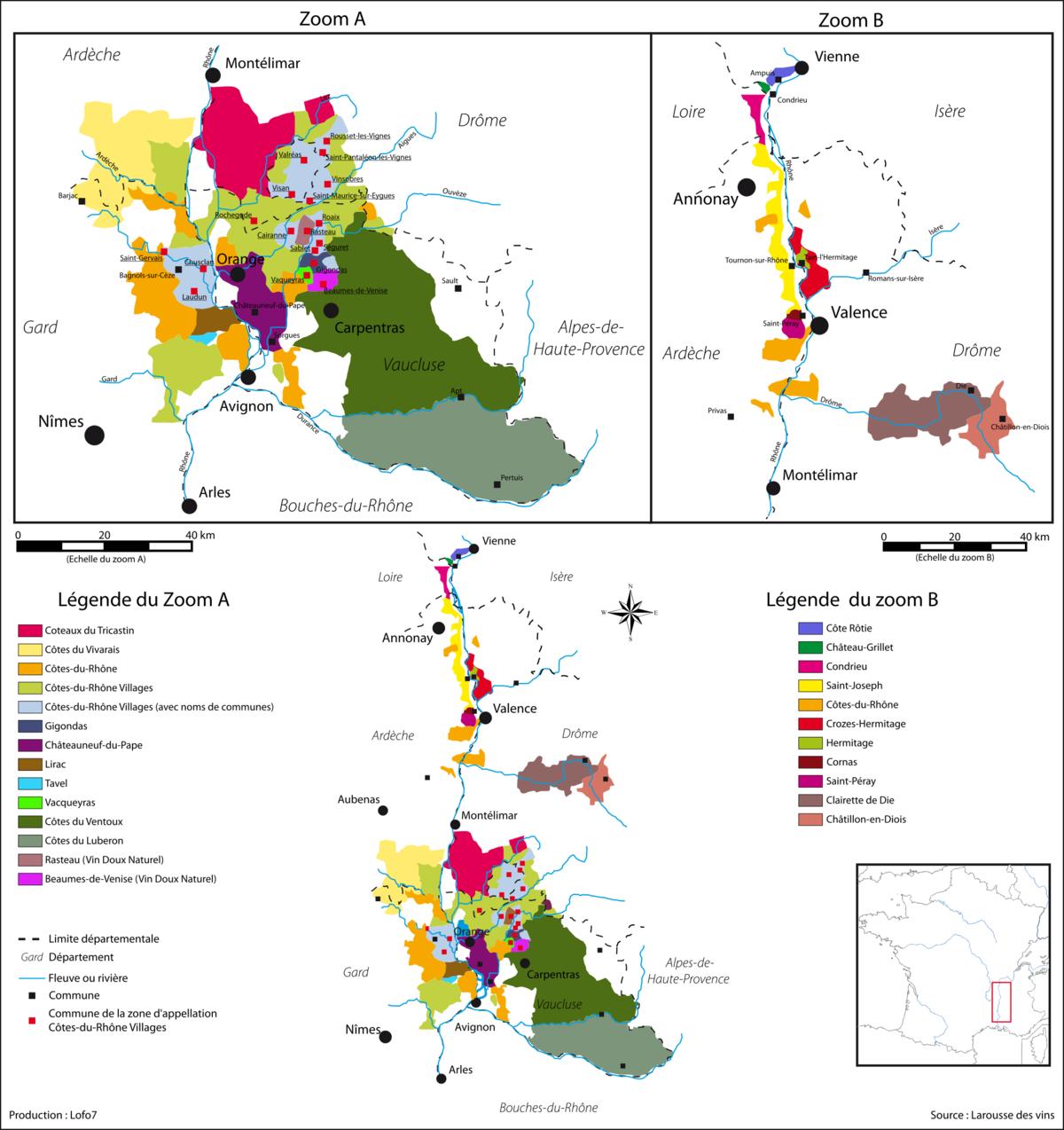 Très Vignoble de la vallée du Rhône — Wikipédia BD42