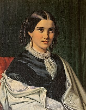 Peter Arnold Heise - Vilhelmine Heise painted by Wilhelm Marstrand in 1856