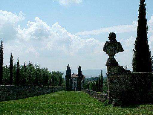 Villa Cetinale, Sovicille, vista dalla Scala Santa