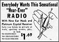 Vintage Newspaper Advertising For The Hear-Ever Crystal Radio In The Plain Speaker (Hazleton, Pennsylvania), June 23, 1959 (23311803902).jpg