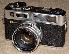 Vintage Yashica Electro GSN 35mm Rangefinder Camera, First Electronically Controlled Camera, Made In Japan, Circa 1973 (14182617831).jpg