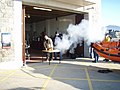 Visitors to the RNLI Barmouth are treated to a volley of cannon fire on New Year's Day 2009 - geograph.org.uk - 1102723.jpg
