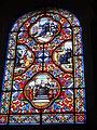 Vitrail de l'église du prieuré de Saint-Benoît-du-Sault.JPG