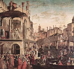 Vittore Carpaccio - The Miracle of the Relic of the Cross at the Ponte di Rialto - Gallerie dell'Accademia Venice
