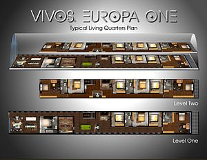 Vivos (underground shelter) - Typical Living Quarters in Vivos Europa One