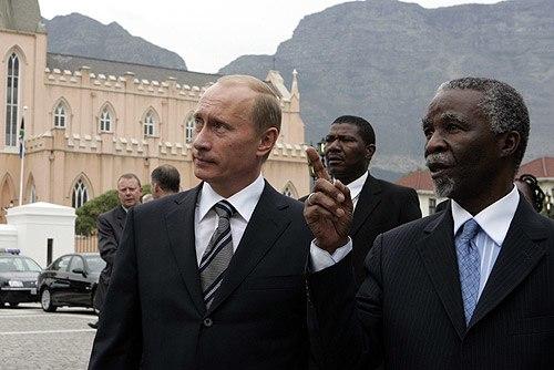 Vladimir Putin in South Africa 5-6 September 2006-5