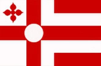 Nordic Cross flag - Image: Vlagrosmalen
