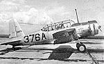 Vultee BT-13 Valiant 376A at Bush Field GA.jpg