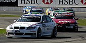 Andy Priaulx leading the World Touring Car Championship 2006 Race 10 in Curitiba.