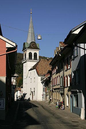 Waldenburg, Switzerland - Waldenburg houses and church