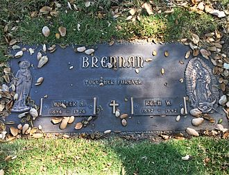 Walter Brennan - Brennan's grave at San Fernando Mission Cemetery