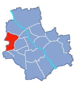 Loko de Bemowo ene de Varsovio
