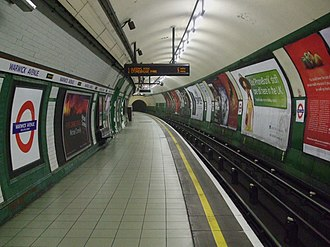 Warwick Avenue tube station - Image: Warwick Avenue stn northbound look south