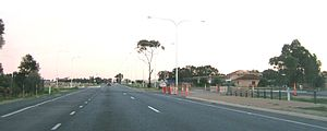 Waterloo Corner, South Australia - Port Wakefield Road. Waterloo Corner is on the left hand side