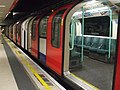Waterloo tube station Waterloo & City line Bank train.JPG