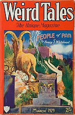 Weird Tales cover image for March 1929