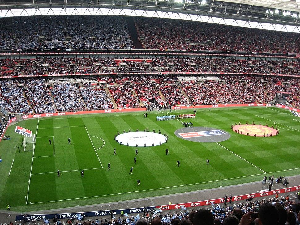 Wembley Manchester derby pre-kick-off