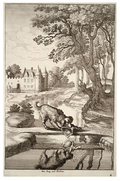 File:Wenceslas Hollar - The dog and his reflection.jpg