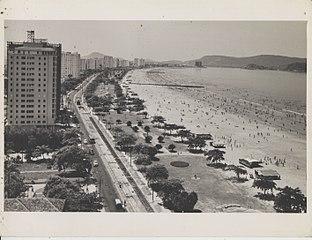 Vista de uma praia no litoral do estado de São Paulo