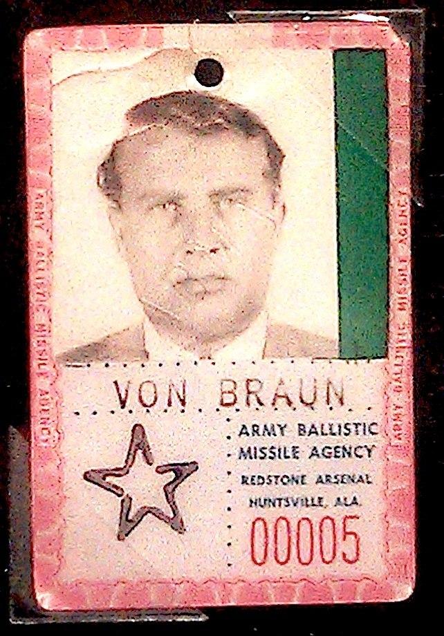 Wernher von Braun - ABMA Badge