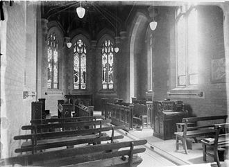 Wesley College, University of Sydney - The interior of the Wesley chapel in the 1930s