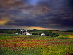 West Lampeter Township, Lancaster County, Pennsylvania - A farm in West Lampeter Township