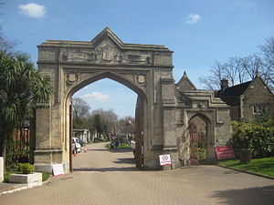 West Norwood Cemetery - Gothic inner gates to the cemetery, designed by Sir William Tite