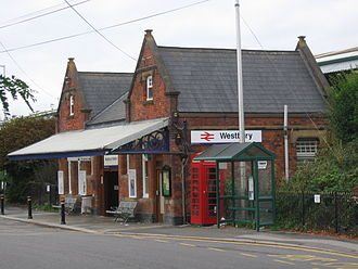 Stert and Westbury Railway - Westbury station was rebuilt in 1899 ready for the new line.