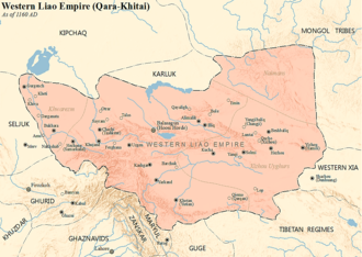The Qara Khitai empire in 1160 Western Liao.png