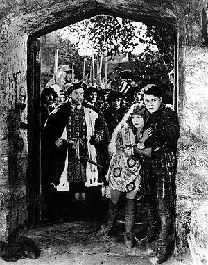When Knighthood Was in Flower (1922 film) - Left to right: Lyn Harding, Marion Davies, Forrest Stanley