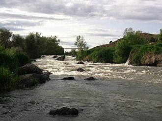 Klamath Falls, Oregon - Link River downstream white water falls from which Klamath Falls got its name.