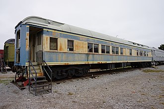 The Missouri Pacific Pullman Rio Usumacinta at the Wichita Falls Railroad Museum Wichita Falls Railroad Museum October 2015 02 (Missouri Pacific Pullman Rio Usumacinta).jpg
