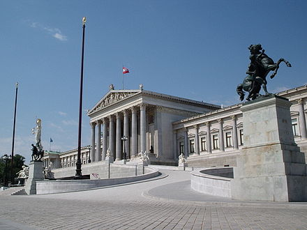The Austrian Parliament Building in Vienna WienParlament.jpg