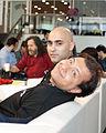 Wikimania 2009 - Todo por una foto con Stallman.jpg