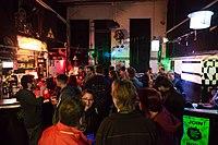 Wikimedia Hackathon Vienna 2017-05-20 Party at Arena 18.jpg