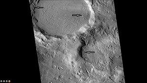 Quenisset (crater) - Image: Wikiquenissetglacier s