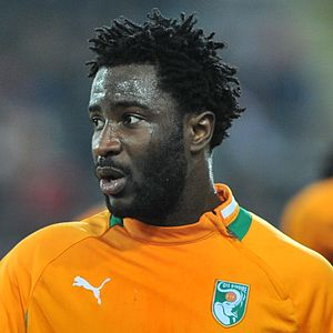 Wilfried Bony - Bony with the Ivory Coast, November 2012