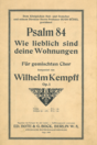 Title page of Kempff's setting