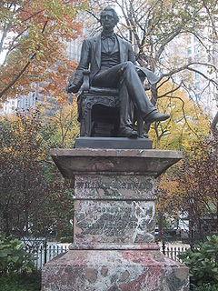 Statue of Seward in Madison Square in New York City.