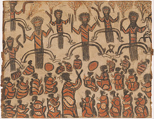 Australian art - William Barak, Corroboree, 1895