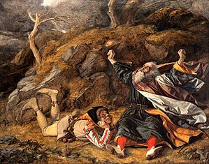 Ran (film) - King Lear and the Fool in the Storm by William Dyce.