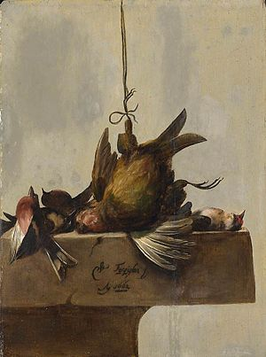 William Gouw Ferguson - Still life with birds, 1662, now in the Rijksmuseum