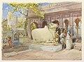 William Simpson - Bull Nandi, Kashi Vishwanath Temple.jpg