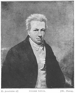 William Taylor (man of letters) British essayist, scholar and polyglot