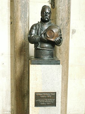 William Walker (diver) - William Walker statuette at Winchester Cathedral