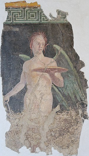 Geniscus - The late-antique Geniscus may be a form of the Roman Genius, pictured here in a 1st-century BC wall painting