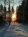 Wintertime, sun´s coming up -) - panoramio.jpg