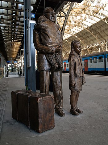 English: Memorial of Nicholas Winton, the savi...