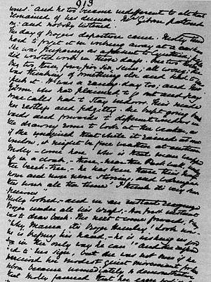 One of the final pages from the manuscript for...