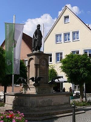 Eduard Riedel - Wolfram von Eschenbach Monument in Eschenbach